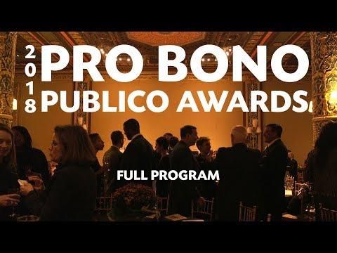 2018 Pro Bono Publico Awards (Full Program)