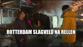Horrornacht Rotterdam: Slijptol ziet plunderingen en enorme ravage