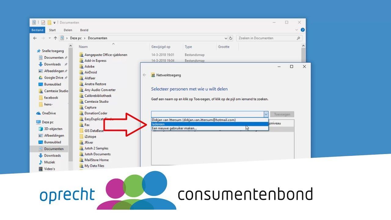 Mappen Delen In Windows 10 How To Consumentenbond