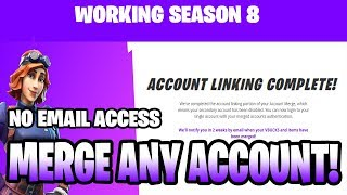 HOW TO MERGE ANY ACCOUNT IN FORTNITE (WORKING 8.10) SAME CONSOLE, PC ACCOUNTS