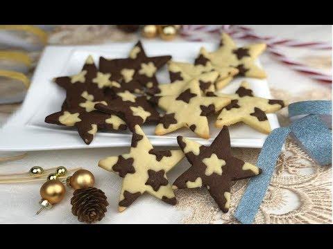 Biscotti Di Natale Uccia.Biscotti Vaniglia E Cacao Con 1 Solo Impasto Ricetta Di Natale Youtube
