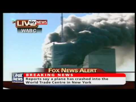 Sky News 9/11 news coverage and first reports