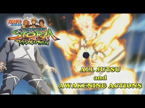 Naruto Shippuden Ultimate Ninja Storm Revolution All Jutsu and Awakening Actions