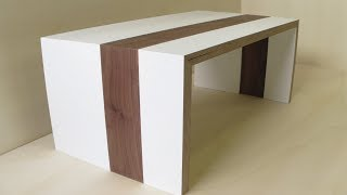 2 hour coffee table - testing my Lamello