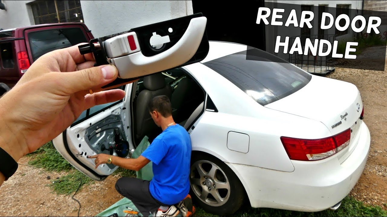 How To Remove And Replace Rear Interior Inner Door Handle On Hyundai Sonata Youtube