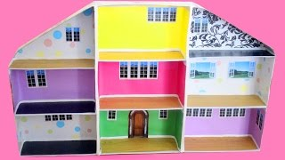 How to make a dollhouse with shoe boxes - simplekidscrafts - simplekidscrafts
