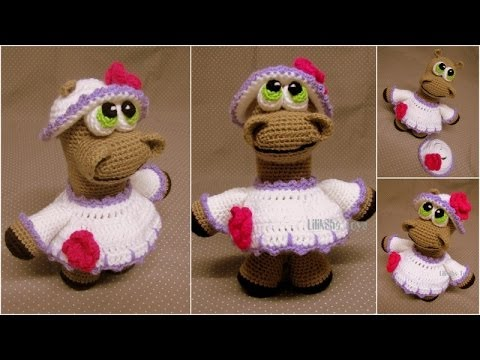 Embroidering Amigurumi Faces : Crochet toy amigurumi how to embroider the mouth. youtube