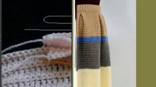 Вязание крючком. Как сделать складку.