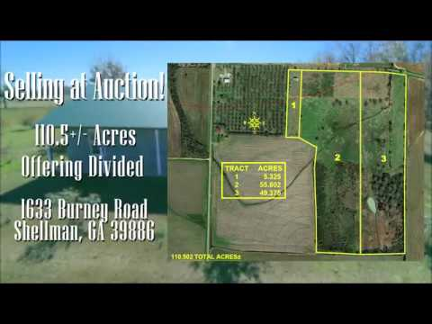 Auction: 110 +/- Acre Cattle Farm Located in Shellman, Georgia