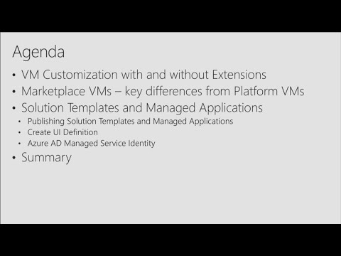 Dive deep into the VM Marketplace in Azure: Single VM images, solution templates, and VM