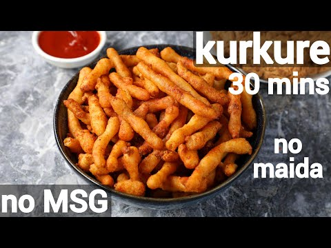 homemade rice kurkure chips recipe | chawal ke kurkure | crispy kurkure recipe with rice flour