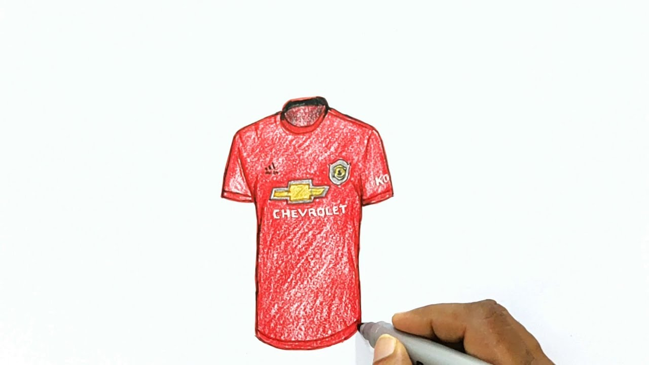 How To Draw The Manchester United Home Jersey 2019 2020 Youtube
