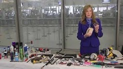 TSA shows some banned items for flying travelers