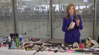 Repeat youtube video TSA shows some banned items for flying travelers