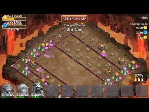 Castle Clash. Expert Dungeon 7-10 - 3 Heroes