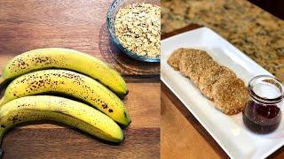 2-ingredient Banana Oatmeal Cookies - Healthy Recipe - Breakfast Cookies