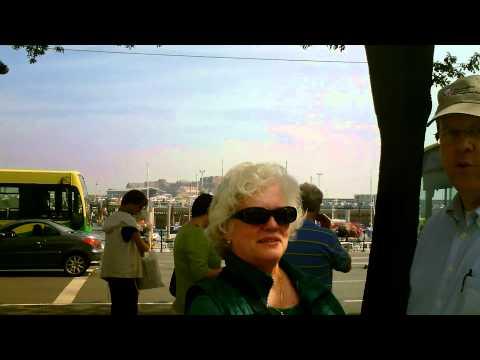 Captain Obvious Walks Around Guernsey Bus Terminus