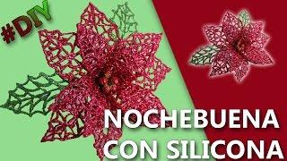 COMO HACER UNA FLOR NOCHEBUENA | Manualidades flor de navidad