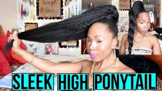 HOW TO | Sleek High Kinky Ponytail on Natural Hair | Aliexpress Luvin Hair Review