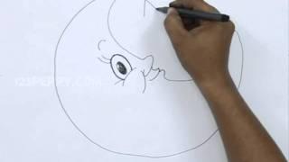 How to Draw a Cartoon Moon