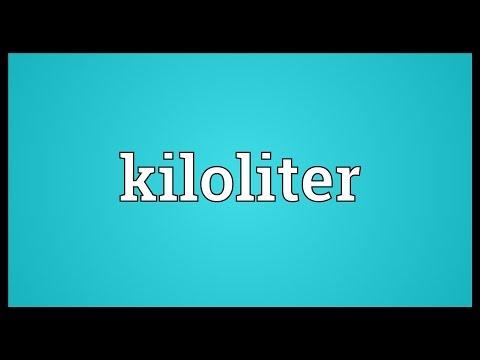 Header of kiloliter
