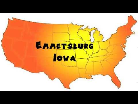 How to Say or Pronounce USA Cities — Emmetsburg, Iowa