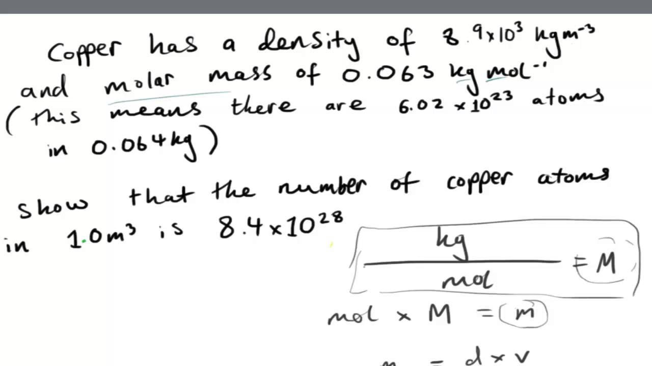 Working out the number of atoms in a given volume of copper from working out the number of atoms in a given volume of copper from densitymolar mass as physics buycottarizona