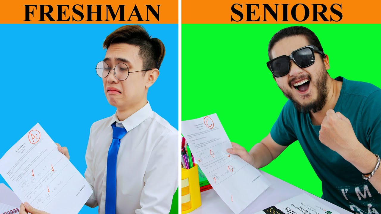 Freshman vs Senior High School ++ Relatable Situations You've Definitely in Monkey Funny Easy Pranks
