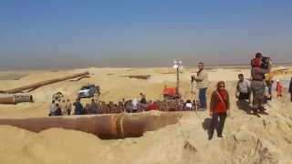 See Drilling and Dredging and drag and expel sand in the new Suez Canal, January 22, 2015