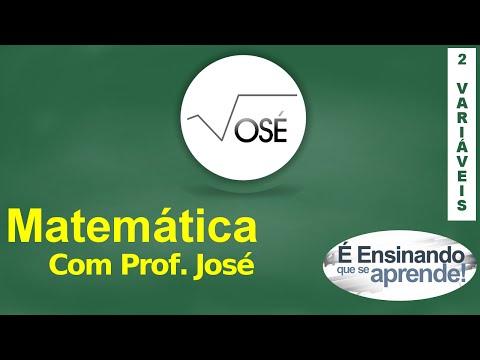 Prof José - Cálculo com 2 variáveis - Aula 04 - Curvas de nível