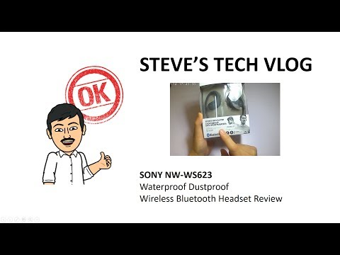 Sony NW-WS623 Walkman Wireless Bluetooth Headset Unboxing and Review