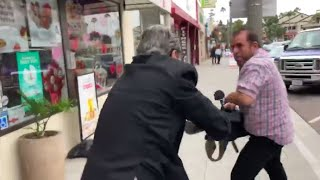 Man attacks San Diego reporters amid allegations he committed sex acts in public I ABC7