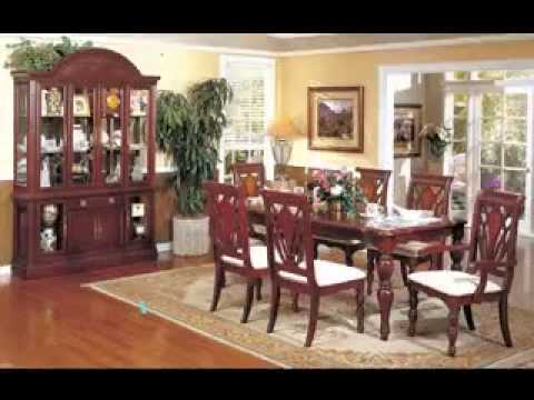 Cherry wood dining room furniture design ideas - YouTube