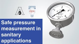 Safe pressure measurement in sanitary applications | Diaphragm pressure gauges...