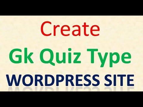 Wordpress Quiz Plugin to create a Gk Quiz type website