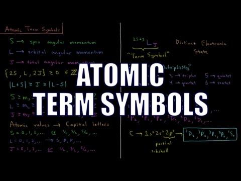 Quantum Chemistry 9.14 - Atomic Term Symbols