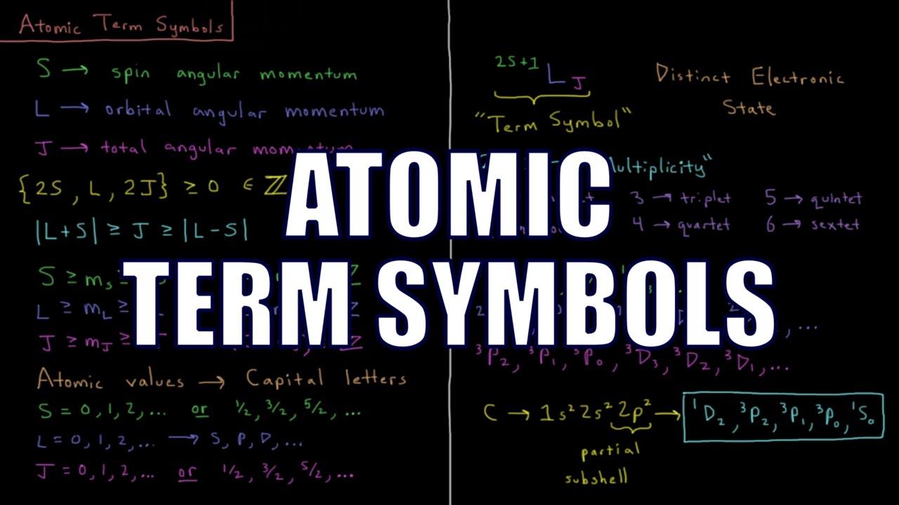 Quantum Chemistry 914 Atomic Term Symbols Youtube