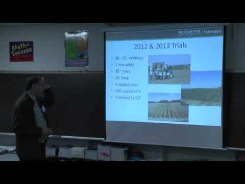 Dan Rossman Organic Soybean On-Farm Trials Farmers Forum Presentation 2014