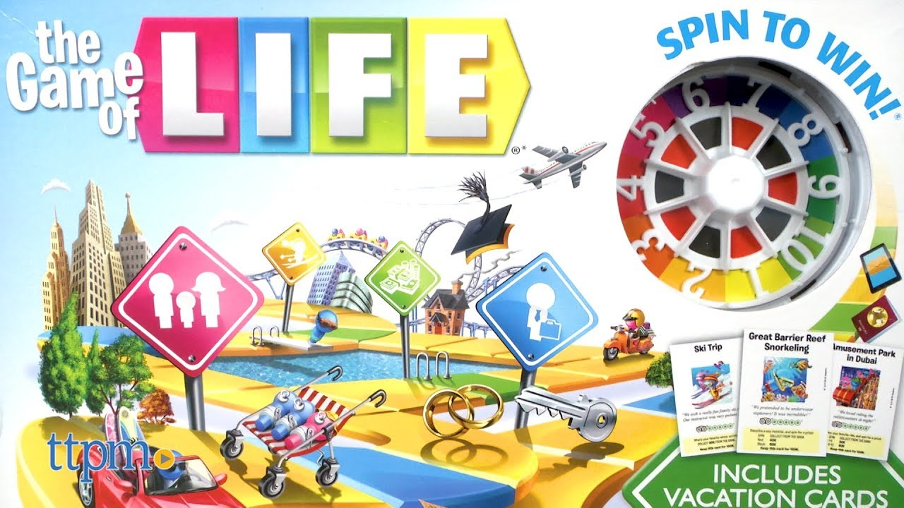 The Game Of Life From Hasbro Youtube