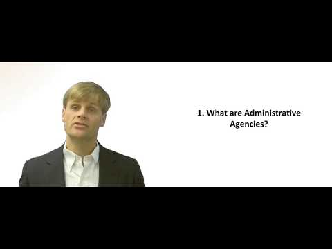 What are administrative agencies?