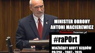 ZOBACZ!!! Antoni MACIEREWICZ ZMIAŻDŻYŁ PO/PSL ws. OBRONNOŚCI POLSKI!
