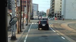 路線バス 快速あまくさ号 前面展望 車窓 熊本駅前→熊本交通センター/ 九州産交 本渡1345発(熊本行)