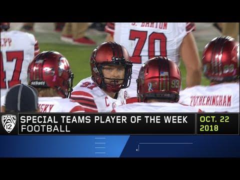 Utah's Matt Gay earns Pac-12 Football Special Teams Player of the Week honors