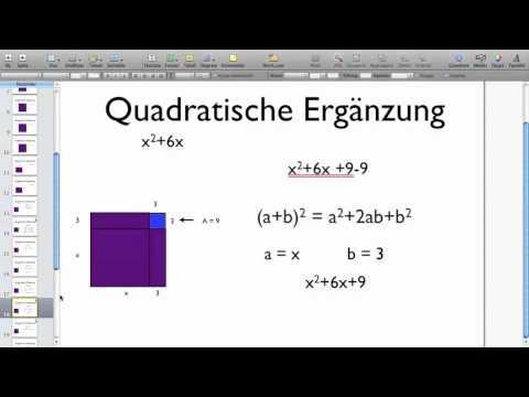 Quadratische Ergänzung Teil 1, Version 1 - YouTube