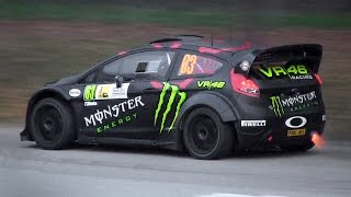 Ford Fiesta RS WRC Tribute with Pure Sounds, Burnouts, Flames & More