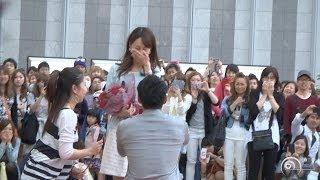 "Flashmob Surprise Proposal Charice 「Louder」 JR大阪駅 ""カリヨン広場  フラッシュモブ サプライズ プロポーズ"