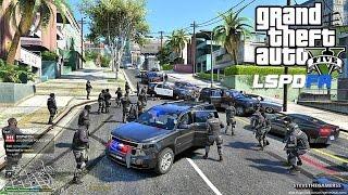 GTA 5 LSPDFR 0.3.1 - EPiSODE 36 - LET'S BE COPS - SWAT PATROL (GTA 5 PC POLICE MODS)