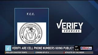 VERIFY: Are cell phone numbers going public?