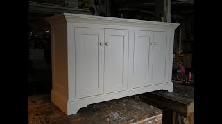 Sideboard Painted 4 Door Frame and Panel Custom Woodworking Expert Furniture Build