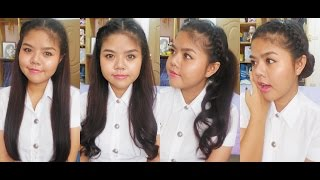 Repeat youtube video How to สอนทำผมรับปริญญาแบบง่ายๆ | 4 Easy Hairstyles for Graduation